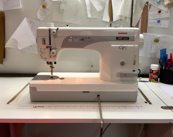 Jan the Janome 1600D - he's straight and thats enough!