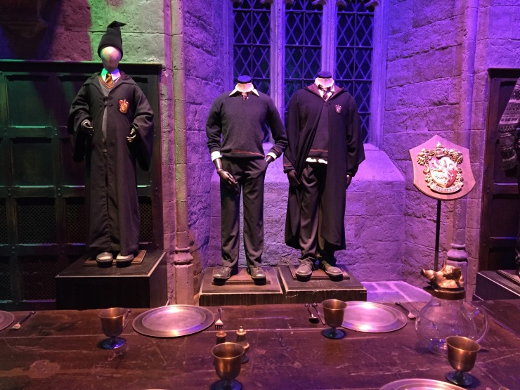 The first Hogwarts uniforms Harry and Ron wore