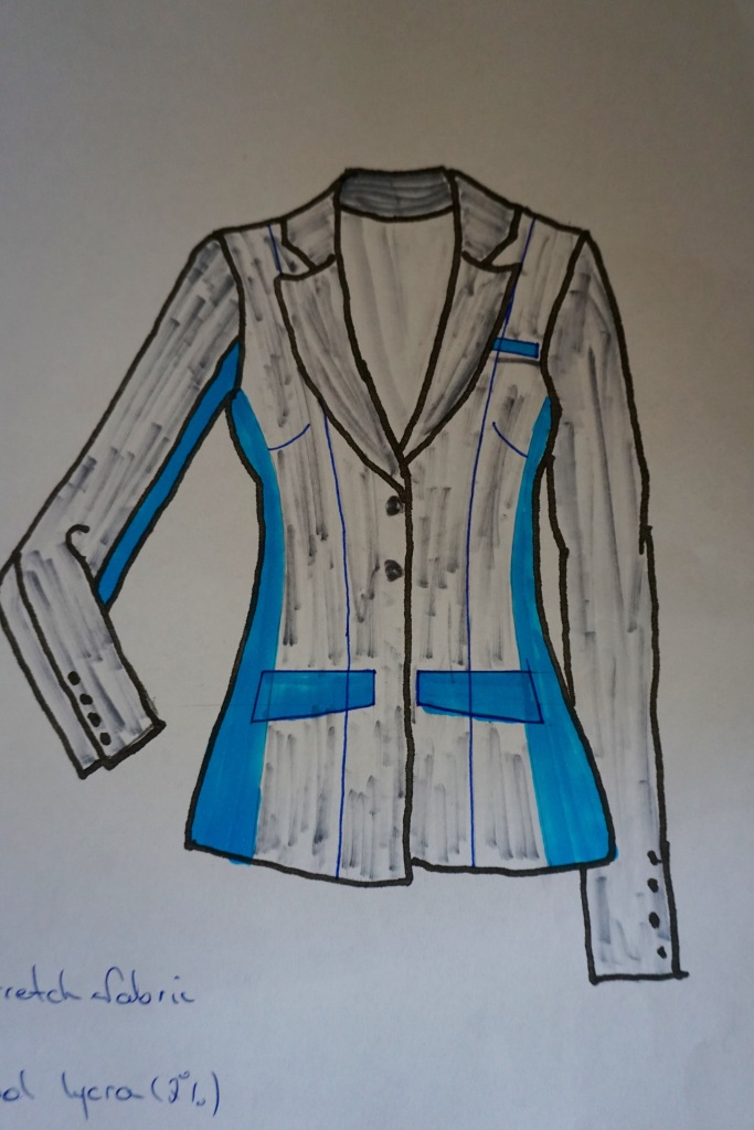 Stretch panels? Very difficult to locate the right fabric and would it 'cheapen' the tailoring?