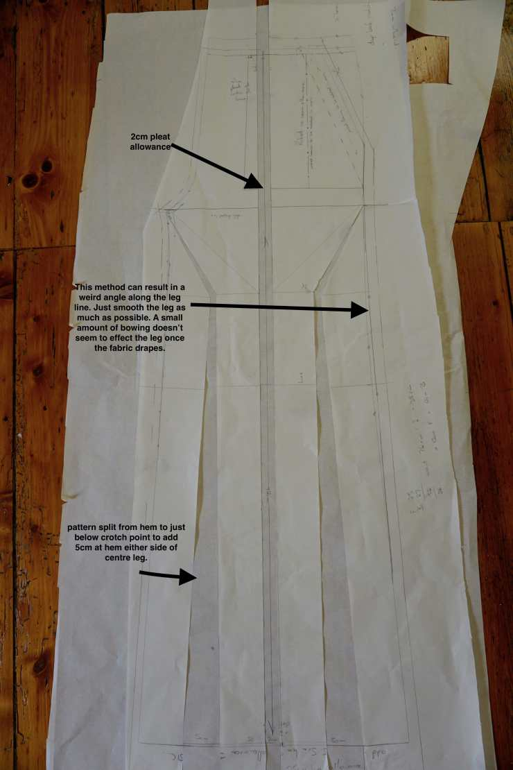 modifications to pant block pattern