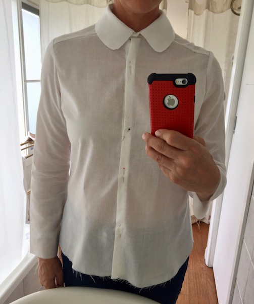 shirt toile #2 with broader front