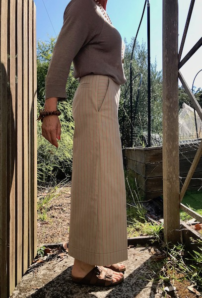 Flint trousers release tuck removed