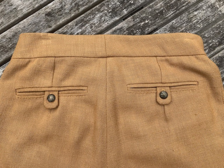 Megan Nielsen Flint trousers with double welt pockets