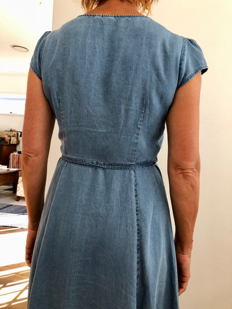 Gap crossover dress back not awful!