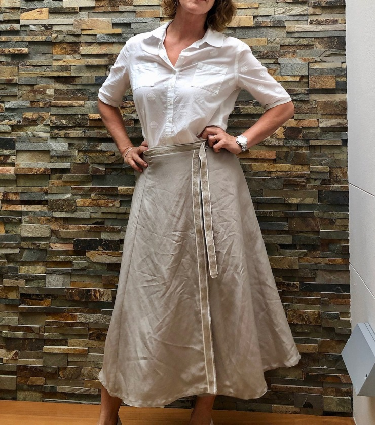 salvaged wrap skirt