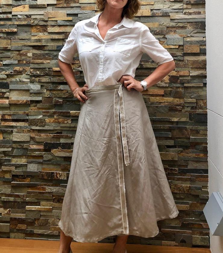 salvaged wrap skirt
